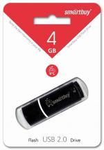 USB Flash Drive 4Gb SmartBuy Crown Black