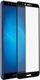 Защитное стекло DF hwColor-54 Huawei Honor 7C/Y6 Full Glue Black