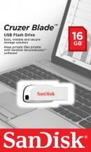 USB Flash Drive 16Gb Sandisk Cruzer Blade White
